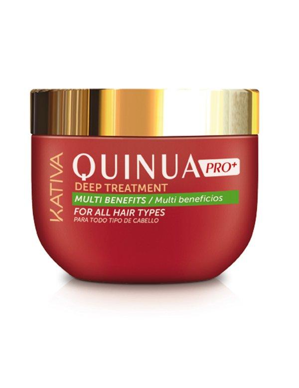 Маска Интенсивная ревитализация  QUINUA PRO Kativa , 250 млУход за волосами<br>Ревитализирующая  маска с аминокислотами киноа для интенсивного восстановления тусклых, ослабленных и секущихся волос, а также поврежденных и окрашенных волос. Активно насыщает питательными веществами, восстанавливая структуру волоса, защищает от внешних ...<br>