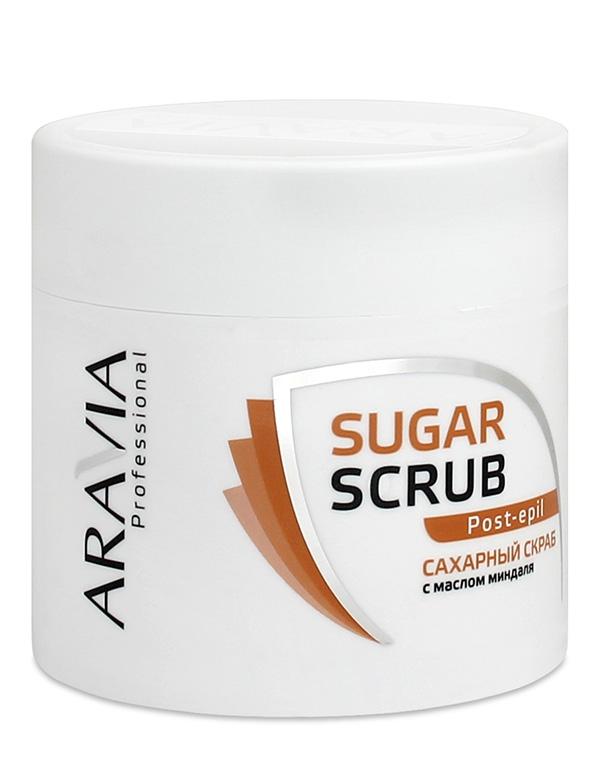 Косметика для депиляции AraviaСредства для смягчения кожи<br>Нежный скраб с сахарными гранулами обеспечивает деликатное отшелушивание ороговевших клеток. Он позволяет подготовить кожу к различным видам процедур: нанесению кремов, масок, обертываний.<br><br>Бренды: Aravia<br>Вид товара: Косметика для депиляции<br>Назначение: Очищение и пилинг<br>Косметическая линия: Линия ARAVIA Professional
