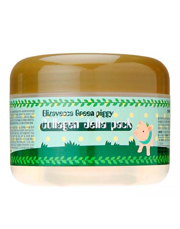 Высококонцентрированная коллагеновая маска Green Piggy Collagen Jella Pack Elizavecca, 100 мл green piggy collagen