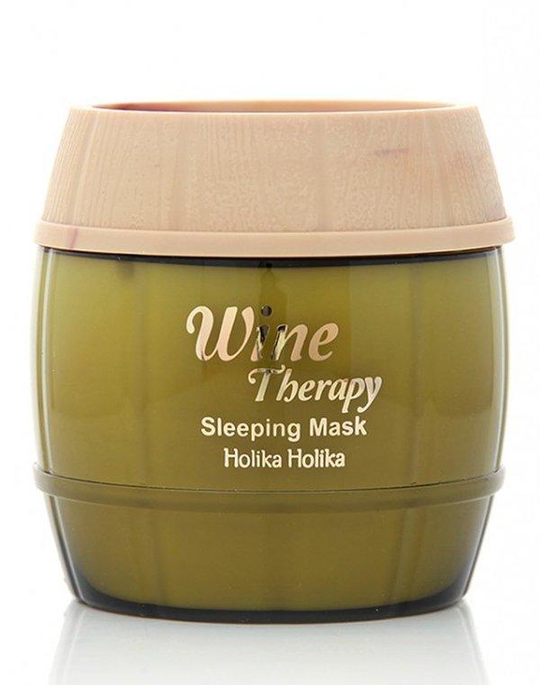 Ночная винная маска-желе белое вино, Holika HolikaУход за лицом<br>Ночная маска с экстрактом белого вина разработана для обновления кожи. Она интенсивно увлажняет клетки, подтягивает овал лица и делает контур более четким.<br>
