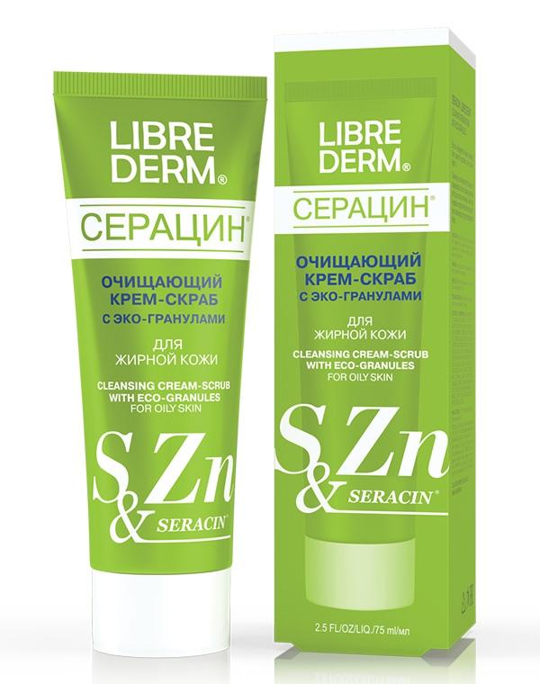 Крем LibredermСкрабы для проблемной кожи и от прыщей<br>Деликатный скраб на основе эко-гранул для глубокого очищения проблемной и жирной кожи лица.<br><br>Бренды: Librederm<br>Вид товара: Крем, Пилинг, скраб<br>Область ухода: Лицо<br>Назначение: Противовоспалительное<br>Тип кожи, волос: Жирная и комбинированная<br>Возрастная группа: Более 40, До 30, До 40<br>Косметическая линия: Линия Пантенол