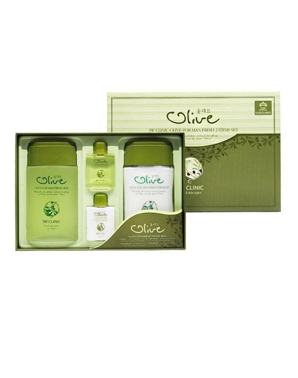 Набор для ухода за мужской кожей Олива Olive for Man Fresh 2 Items Set, 3W Clinic мужской набор очищение и уход men set cleansing