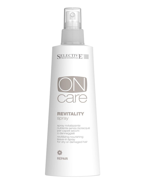Несмываемый уход, защита SelectiveСыворотки для восстановления волос<br>Спрей для сухих и поврежденных волос Revitality spray возвращает энергию ослабленным волосам, делая их более стойкими к повреждениям, укрепляя их ...<br><br>Бренды: Selective<br>Вид товара: Несмываемый уход, защита<br>Область ухода: Волосы<br>Тип кожи, волос: Осветленные, мелированные, Окрашенные, Вьющиеся, Сухие, поврежденные, Тонкие<br>Косметическая линия: ON CARE Nutrition Линия для восстановления поврежденных волос