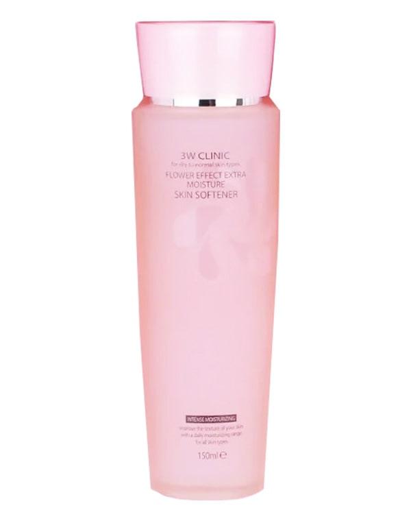 Увлажнение Скин-тоник для лица Flower Effect Extra Moisture Skin Softener, 3W Clinic, 150 мл эмульсия для лица с коллагеном 3w clinic collagen whitening brightening emulsion 150 мл