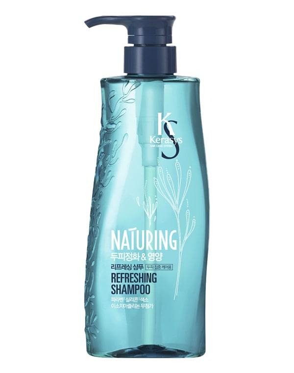 Шампунь для волос Naturing Уход за кожей головы с морскими водорослями KeraSys, 500 мл шампунь для волос прелесть bio питание и увлажнение с алоэ и морскими минералами 500 мл