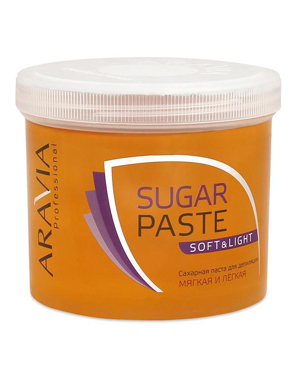 Сахарная паста для депиляции «Мягкая и легкая» мягкой консистенции ARAVIA Professional, 750 гр сахарная паста для депиляции медовая очень мягкой консистенции 750 гр
