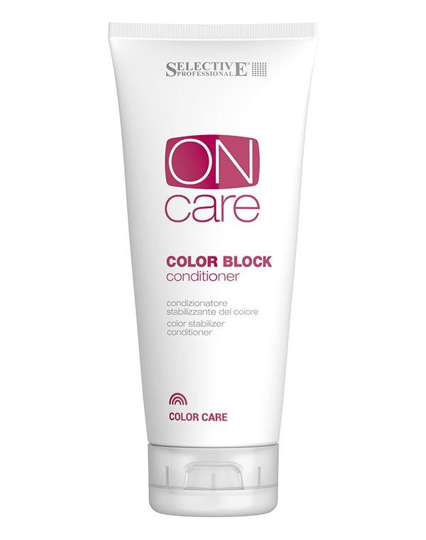 Кондиционер для стабилизации цвета Color Block, SelectiveБальзамы для окрашеных волос<br>Кондиционер для сохранения цвета Color Block от Selective надолго сохраняет цвет без изменений после окрашивания, за счет присутствия активных веществ в составе. Инновационные формулы flux позволяют стабилизировать работу всех систем в клетках кожи и восс...<br><br>Бренды: Selective<br>Вид товара: Кондиционер, бальзам<br>Область ухода: Волосы<br>Назначение: Восстановление волос, Защита цвета<br>Тип кожи, волос: Окрашенные, Осветленные, мелированные<br>Косметическая линия: ON CARE Tech Линия для окрашенных волос<br>Объем мл: 200