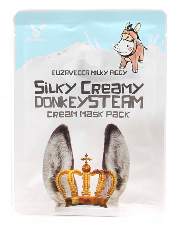 Маска Elizavecca Маска для лица на основе ослиного молока Silky Creamy Donkey Steam Cream Mask Pack Elizavecca, 25 мл sun smile маска для лица choco labo на основе какао с растительными маслами и экстрактами банана молока клубники и мяты 20 мл 5 мл 4
