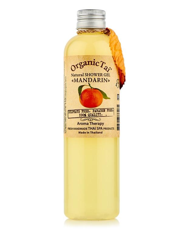 Гель, флюид Organic Tai Гель для душа натуральный «Мандарин» Organic Tai, 260 мл гель для душа nagara молочный whip latte 260 мл