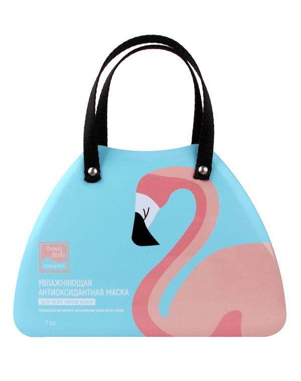 Увлажняющая антиоксидантная тканевая маска Фламинго, Beauty Style, 7 шт фото