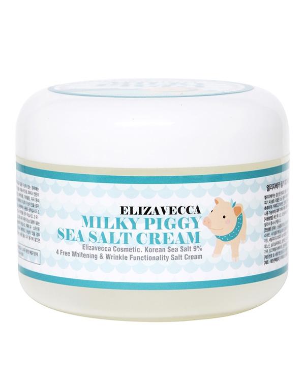 Омолаживающий крем с коллагеном и морской солью Milky Piggy Sea Salt Cream Elizavecca, 100 мл недорого