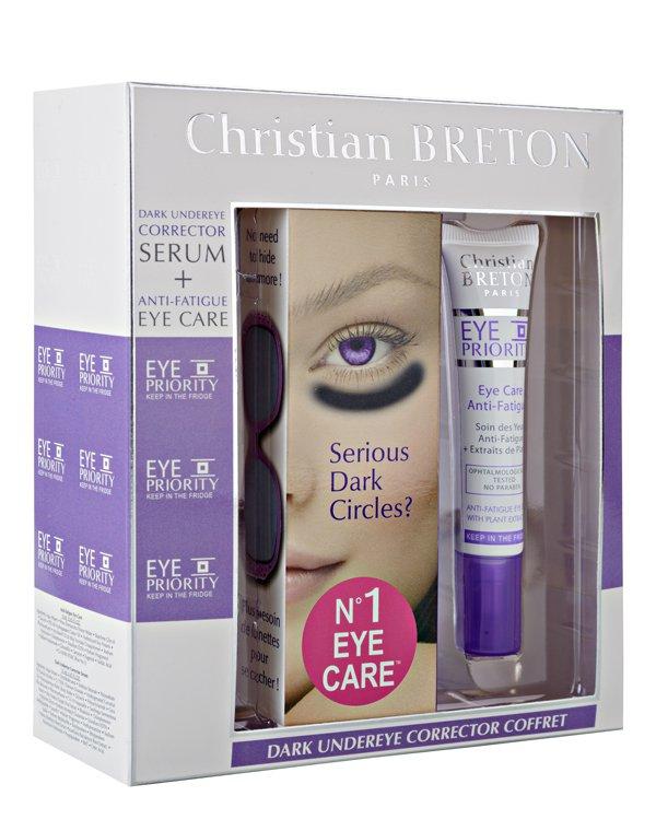 Набор для глаз против стресса и темных кругов, Christian Breton - Крема для кожи вокруг глаз