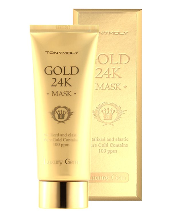 Маска Tony Moly Маска для лица с содержанием 100ppm долей золота Gold 24K Snail Mask, Tony Moly спонж tony moly water latex free sponge 1 шт