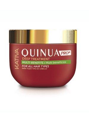 Интенсивный уход Защита цвета KATIVA для всех типов волос QUINUA PRO , 500 млУход за волосами<br>Интенсивный профессиональный уход обеспечивает маска с аминокислотами и витаминами киноа, восстанавливая внутреннюю структуру волос и повышая их прочность. Это превосходное средство для восстановления, а также для сохранения цвета окрашенных волос.<br>
