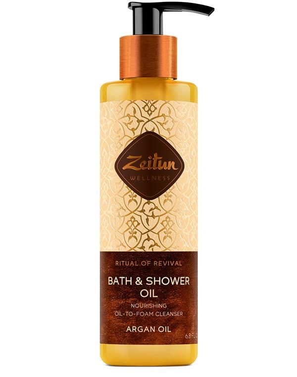 Купить Масло Zeitun, Масло для душа и ванны очищающее Ритуал восстановления с органическим маслом арганы Zeitun, РОССИЯ