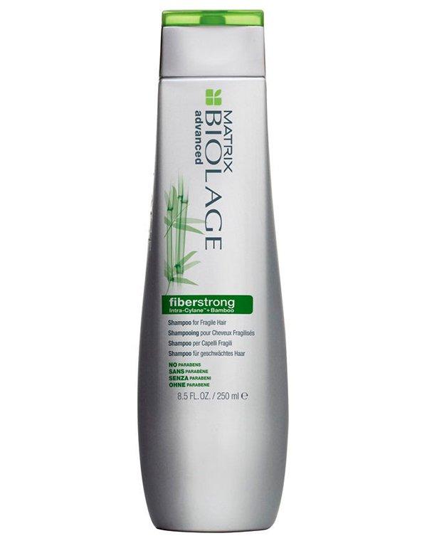 Шампунь укрепляющий Biolage Fiberstrong Shampoo MatrixШампуни для лечения волос<br>Шампунь Biolage Fiberstrong деликатно очищает и ухаживает за волосами. Облегчает расчесывание волос, придает локонам мягкость и шелковистость. Не содержит в своем составе парабены, гелевая текстура.<br>