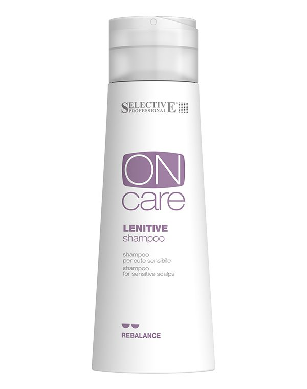 Шампунь для чувствительной кожи головы Lenitive, SelectiveШампуни для лечения волос<br>Шампунь Lenitive Shampoo предназначен для ухода за чувствительной кожей головы, склонной к раздражениям. Отлично успокаивает, снимает кожный зуд, восстанавливает естественные физиологические процессы в клетках кожи. В составе присутствуют натуральные раст...<br><br>Бренды: Selective<br>Вид товара: Шампунь<br>Область ухода: Волосы<br>Тип кожи, волос: Осветленные, мелированные, Окрашенные, Вьющиеся, Сухие, поврежденные, Жирные, Нормальные, Чувствительная, Тонкие<br>Косметическая линия: ON CARE Scalp Specifics Линия для лечения кожи головы<br>Объем мл: 1000