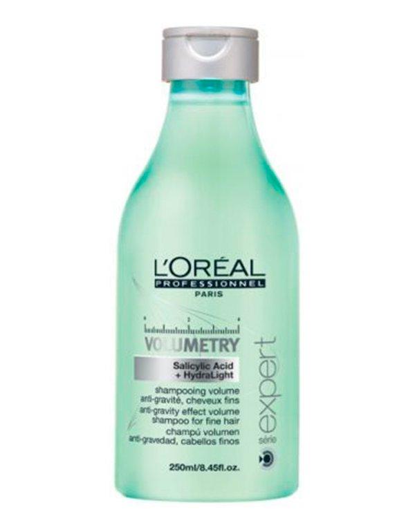 Шампунь Loreal ProfessionalШампуни для сухих волос<br>Шампунь бережно очищает волосы, придавая им объем. Локоны становятся упругими и приподнимаются у корней.<br><br>Бренды: Loreal Professional<br>Вид товара: Шампунь<br>Область ухода: Волосы<br>Назначение: Для объема<br>Тип кожи, волос: Осветленные, мелированные, Окрашенные, Сухие, поврежденные, Нормальные, Тонкие<br>Косметическая линия: Линия Volumetry для объема волос