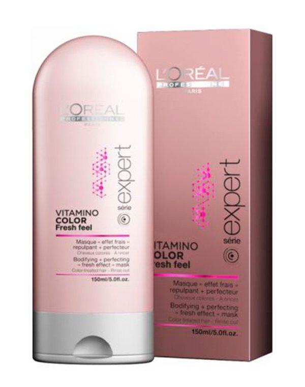 Маска для окрашенных волос Vitamino Color A-OX INOA LorealМаски для окрашеных волос<br>Маска восстановит жемчужный блеск и яркость окрашенных локонов. Она сделает прядки гладкими и дисциплинированными. После маски прическа будет выглядеть так же, как после окрашивания.<br><br>Бренды: Loreal Professional<br>Вид товара: Маска для волос<br>Область ухода: Волосы<br>Назначение: Увлажнение и питание, Защита цвета<br>Тип кожи, волос: Окрашенные, Осветленные, мелированные<br>Косметическая линия: Линия Vitamino Color A-OX для окрашенных волос