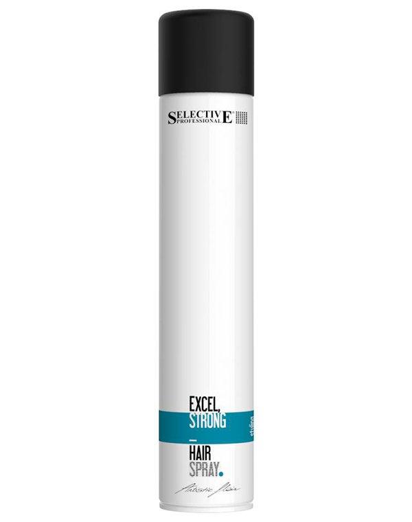 Лак cильной фиксации Excel Strong Hairspray, Selective, 500 мл selective artistic flair blow volumizing ecohairspray натуральный экоспрей придающий объём 100 мл