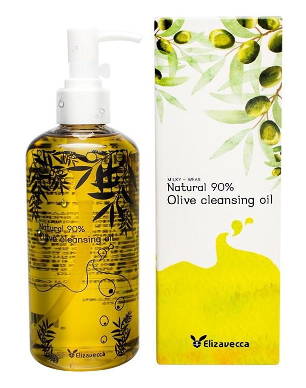 Гидрофильное масло с натуральным маслом оливы Natural 90% Olive Cleansing Oil Elizavecca, 300 мл цена