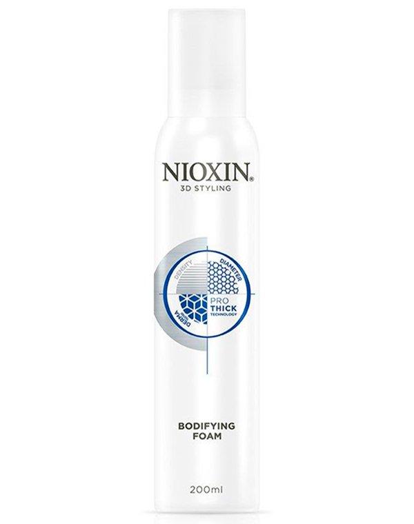 Мусс для объема 3D Styling Bodifying Foam NioxinМусс для волос<br>Легкий мусс для дополнительного объема, обеспечивает подвижную фиксацию.<br><br>Бренды: Nioxin<br>Вид товара: Спрей, мусс<br>Область ухода: Волосы<br>Назначение: Стайлинг, Для объема<br>Тип кожи, волос: Осветленные, мелированные, Окрашенные, Вьющиеся, Сухие, поврежденные, Жирные, Нормальные, Тонкие<br>Косметическая линия: Линия 3D Styling стайлинг