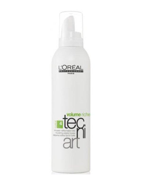 Спрей, мусс Loreal ProfessionalМусс для волос<br>Мусс предназначен для ухода и стайлинга. Он делает локоны более сильными и объемными, оставляя естественную подвижность.<br><br>Бренды: Loreal Professional<br>Вид товара: Спрей, мусс<br>Область ухода: Волосы<br>Назначение: Стайлинг, Для объема<br>Тип кожи, волос: Осветленные, мелированные, Окрашенные, Сухие, поврежденные, Нормальные<br>Косметическая линия: Линия Tecni Art для укладки волос