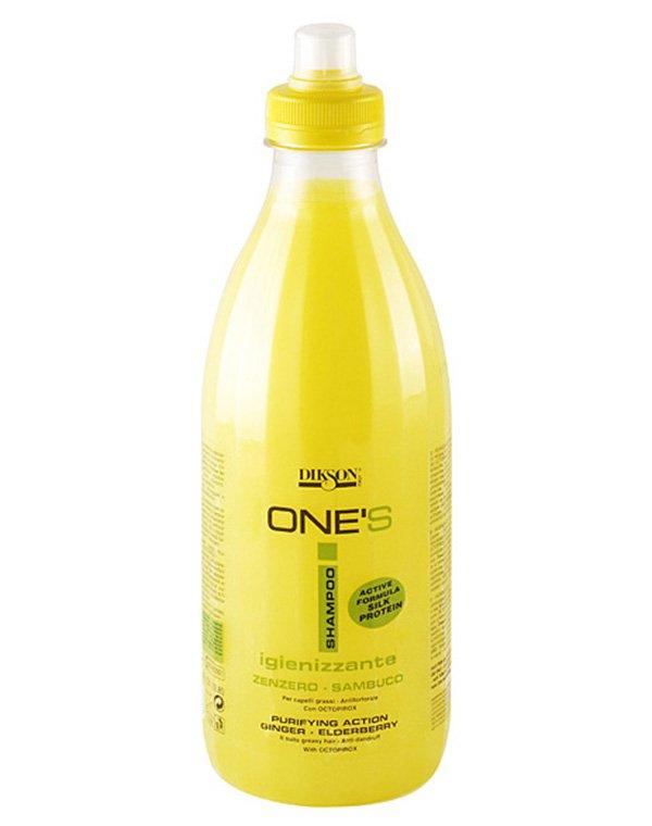 Шампунь для жирных волос против перхоти с октопероксом Балансирующий One'S Sampoo Iginizzante, Dikson dikson grassi шампунь с лимоном для жирных волос 250 мл
