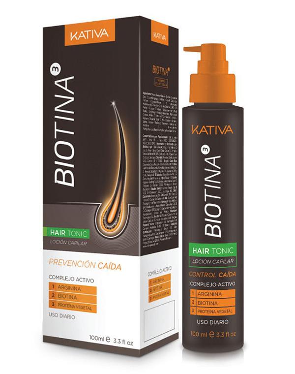 Тоник против выпадения волос с биотином Biotina, Kativa, 100 мл