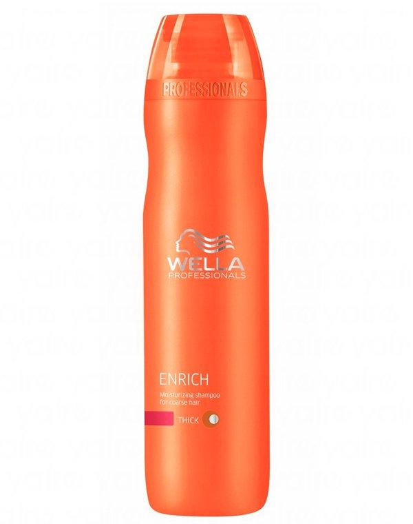 Шампунь Wella ProfessionalШампуни для сухих волос<br>Шампунь для ухода за жесткими волосами смягчает пряди, делает их более сильными и эластичными.<br><br>Бренды: Wella Professional<br>Вид товара: Шампунь<br>Область ухода: Волосы<br>Назначение: Увлажнение и питание, Очищение волос, Для объема<br>Тип кожи, волос: Сухие, поврежденные<br>Косметическая линия: Линия Wella Enrich Line питания и увлажнения<br>Объем мл: 250