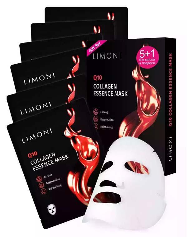 Купить Набор Limoni, Набор масок для лица антивозрастных с коэнзимом Q10 и коллагеном 6шт Q10 Collagen Set LIMONI, КОРЕЯ, РЕСПУБЛИКА
