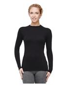 Термобелье футболка женская с длинным рукавом и круглым воротом, черная, серии Classic футболка женская лотос с длинным рукавом yogadress 0 2 кг l 48 малиновый