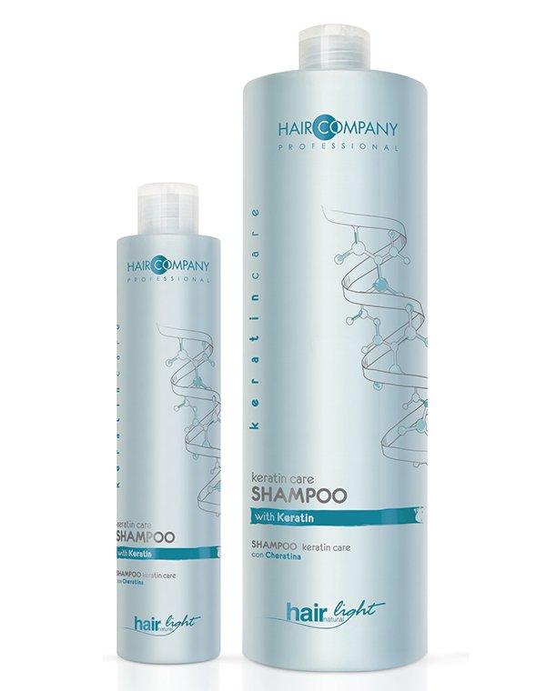 Шампунь-уход с кератином Keratin Care Hair CompanyШампуни для окрашеных волос<br>Восстанавливает структуру волос и оздоравливает, подходит для регулярного применения.<br><br>Бренды: Hair Company Professional<br>Вид товара: Шампунь<br>Область ухода: Волосы<br>Назначение: Восстановление волос, Восстановление и защита<br>Тип кожи, волос: Окрашенные, Сухие, поврежденные, Тонкие<br>Косметическая линия: Линия Hair Light Keratin Care для волос с кератином<br>Объем мл: 250