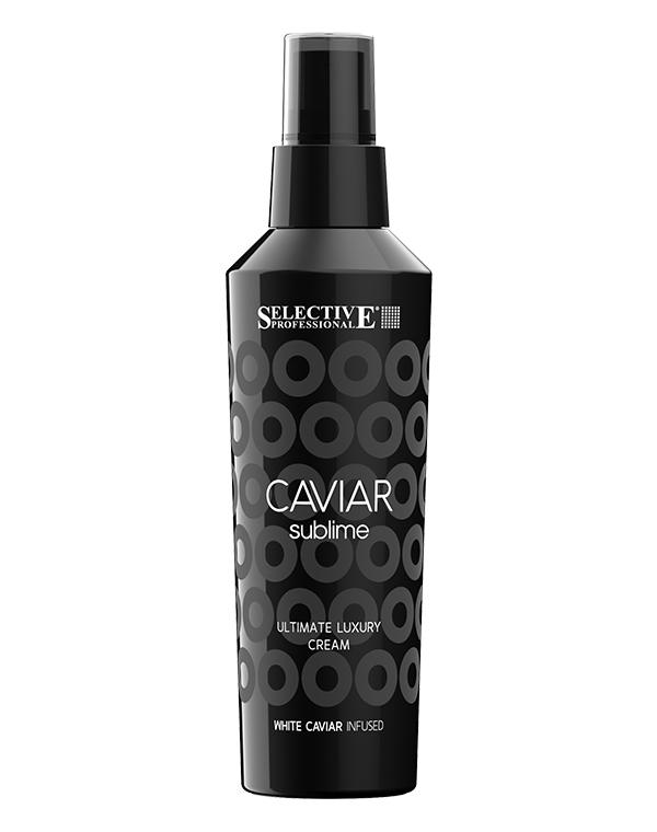Флюид несмываемый Ultimate Luxury Cream, SelectiveСыворотки для восстановления волос<br>Крем-флюид прекрасно позаботится за истонченными и ослабленными локонами. Он укрепляет волосы, возвращает им утраченное здоровье и делает более сияющими.<br><br>Бренды: Selective<br>Вид товара: Гель, флюид, Крем<br>Область ухода: Волосы<br>Назначение: Увлажнение и питание, Восстановление волос, Восстановление и защита<br>Тип кожи, волос: Осветленные, мелированные, Окрашенные, Сухие, поврежденные<br>Возрастная группа: Более 40, До 30, До 40<br>Косметическая линия: Линия Caviar Sublime