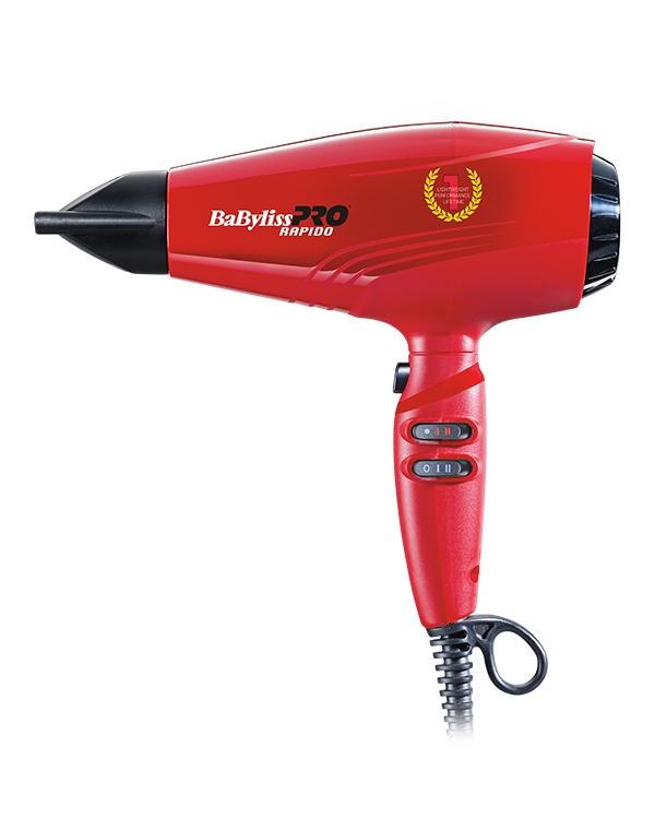 Фен, плойка, щипцы BaByliss PRO Фен профессиональный Rapido Ferrari, BaByliss, красный фен babyliss 5250e