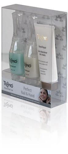 Набор Trind Perfect Nail and Hand SetСредства для укрепления и восстановления Trind Nail, собранные в одном наборе   это великолепный способ быстро улучшить качество ногтевой пластины и оздоровить кутикулу.<br><br>Бренды: Trind<br>Вид товара: Косметические наборы для ногтей<br>Область ухода: Ногти<br>Назначение: Дизайн ногтей, Укрепление и восстановление ногтей