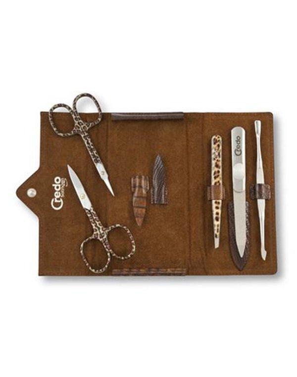 CREDO Solingen Маникюрный набор из 5 предметов Ящерица, Credo маникюрный набор 7 предметов темно коричневый solingen kellermann
