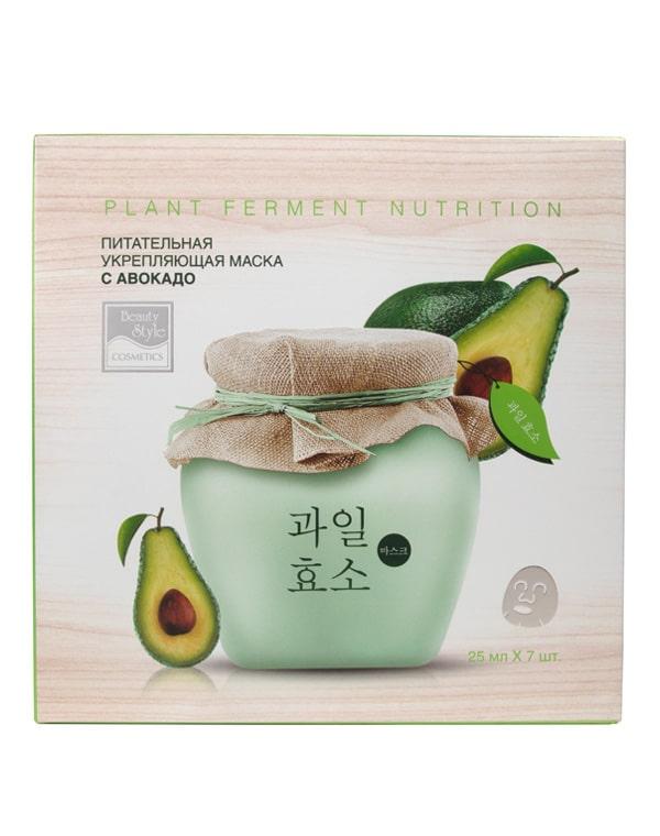Питательная укрепляющая тканевая маска с авокадо, Beauty Style фото