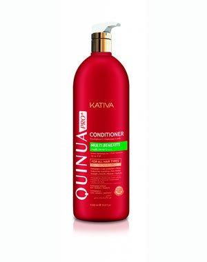 Кондиционер, бальзам KativaПрофессиональная косметика для волос<br>Кондиционер с протеинами киноа восстанавливает упругость и блеск волос, насыщая питательными веществами и защищая от повреждений. Формула содержит УФ-фильтры для защиты от выгорания. Кондиционер усиливает действие шампуня, укрепляет структуру волос.<br><br>Бренды: Kativa<br>Вид товара: Кондиционер, бальзам<br>Область ухода: Волосы<br>Назначение: Увлажнение и питание, Ежедневный уход, Восстановление волос, Защита цвета, Восстановление и защита<br>Тип кожи, волос: Осветленные, мелированные, Окрашенные, Вьющиеся, Сухие, поврежденные, Жирные, Нормальные, Тонкие