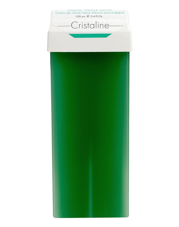 Воски в картриджах Cristaline Воск алоэ вера в картридже CRISTALINE, 100мл воск для эпиляции cristaline натуральный
