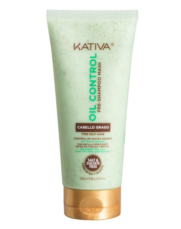 Маска «Контроль» перед мытьем шампунем для жирных волос OIL CONTROL Kativa, 200 мл фото