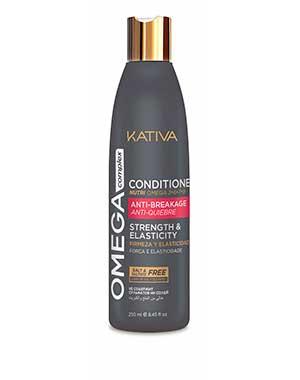 Кондиционер «Антистресс» для все типов волос Kativa Omega ComplexУход за сухими волосами<br>Кондиционер Kativa Omega Complex разработан специально для восстановления поврежденных волос. Насыщенная формула с комплексом омега- и аминокислот дарит волосам здоровье и красоту. Восстанавливающий кондиционер Kativa повышает устойчивость волос к поврежд...<br><br>Бренды: Kativa<br>Вид товара: Кондиционер, бальзам<br>Область ухода: Волосы<br>Назначение: Увлажнение и питание, Ежедневный уход, Восстановление волос, Восстановление и защита<br>Тип кожи, волос: Осветленные, мелированные, Окрашенные, Вьющиеся, Сухие, поврежденные, Жирные, Нормальные, Тонкие