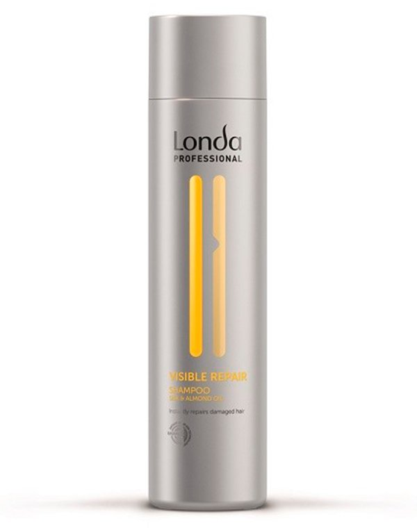 Шампунь для поврежденных волос Visible Repair LondaШампунь предназначен для очищения и восстановления поврежденных локонов.<br><br>Бренды: Londa Professional<br>Вид товара: Шампунь<br>Область ухода: Волосы<br>Назначение: Увлажнение и питание, Восстановление волос<br>Тип кожи, волос: Осветленные, мелированные, Окрашенные, Сухие, поврежденные<br>Косметическая линия: Линия Visible Repair для поврежденных волос<br>Объем мл: 250