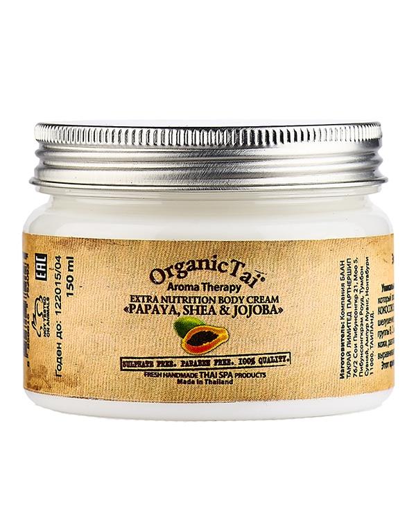 Крем Organic Tai  для тела экстрапитательный «Папая, Ши  Жожоба»  , 150 мл