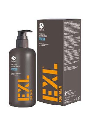 Бальзам для ежедневного примененияБальзамы для сухих волос<br>Бальзам предназначен для увлажнения, укрепления волос и придания им силы и блеска. Он смягчает пряди, делая их более послушными и живыми. После использования кондиционера ежедневную укладку будет проще выполнить.<br><br>Бренды: Barex<br>Вид товара: Кондиционер, бальзам<br>Область ухода: Волосы<br>Тип кожи, волос: Вьющиеся, Сухие, поврежденные, Жирные, Нормальные, Тонкие<br>Косметическая линия: EXL FOR MEN Линия для мужчин