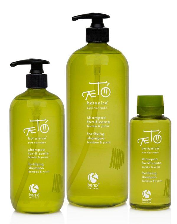 Шампунь укрепляющий с экстрактом бамбука и юккиШампуни для сухих волос<br>Для бережного и тщательного очищения прядей разработан ультрамягкий шампунь. Сбалансированная формула мгновенно восстановит и укрепит поврежденные и ломкие волосы.<br><br>Бренды: Barex<br>Вид товара: Шампунь<br>Область ухода: Волосы<br>Назначение: Восстановление волос, Очищение волос<br>Тип кожи, волос: Осветленные, мелированные, Окрашенные, Вьющиеся, Сухие, поврежденные, Жирные, Нормальные, Тонкие<br>Косметическая линия: Aeto Botanica Линия ухода за волосами с растительными экстрактами<br>Объем мл: 1000