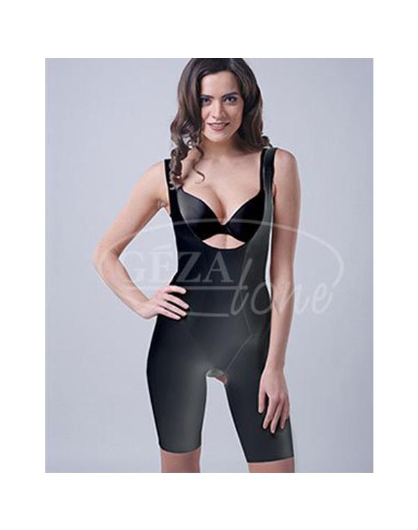 Корректирующее утягивающее белье SlimnShape Bodysuit комбидрес (черный), Gezatone