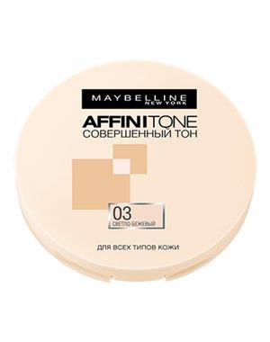 Тональные средства MAYBELLINE Компактная пудра выравнивающая Affinitone, MAYBELLINE пудра