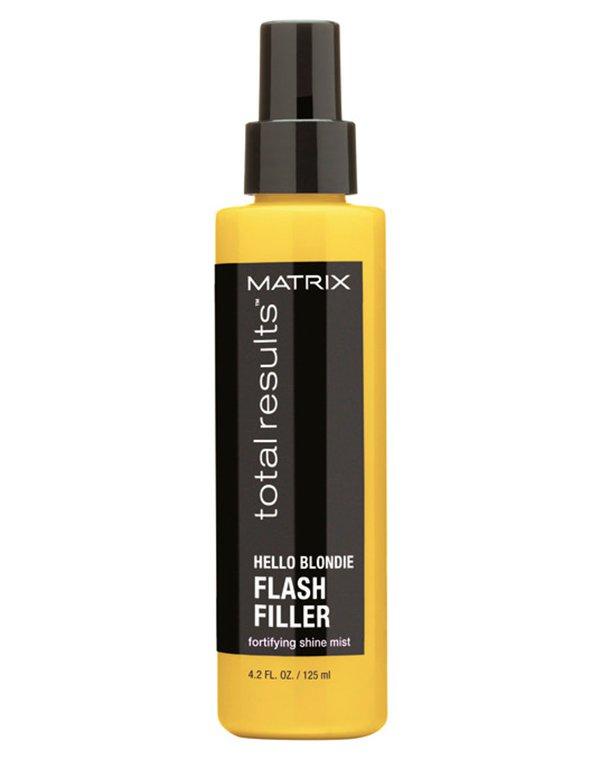 Спрей-вуаль несмываемый для волос Hello Blondie Flash Filler MatrixНесмываемый спрей с легкой текстурой для ухода за окрашенными и натуральными волосами светлых оттенков. Уплотняет волосы, восстанавливает структуру, смягчает, не утяжеляя пряди.<br><br>Бренды: Matrix<br>Вид товара: Несмываемый уход, защита<br>Область ухода: Волосы<br>Назначение: Восстановление волос, Защита цвета<br>Тип кожи, волос: Сухие, поврежденные, Осветленные, мелированные<br>Косметическая линия: Линия Total Results Hello Blondie для сияния светлых волос