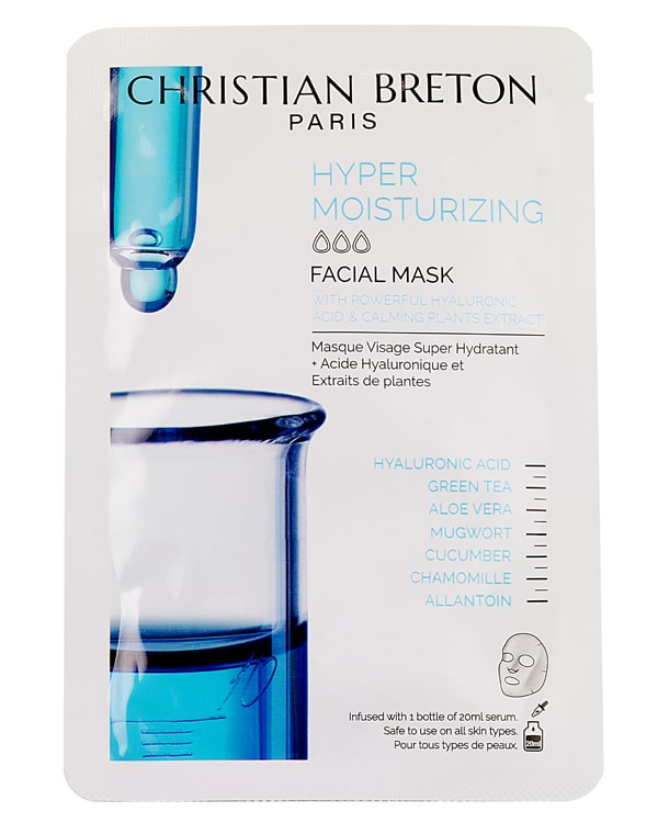 Супер увлажняющая маска для лица, Christian Breton, 3шт. эликсир для век christian breton 15 мл